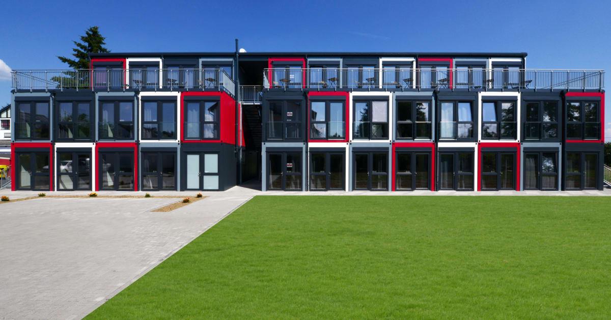 algeco verwirklicht modulares wohnkonzept der zukunft algeco gmbh. Black Bedroom Furniture Sets. Home Design Ideas