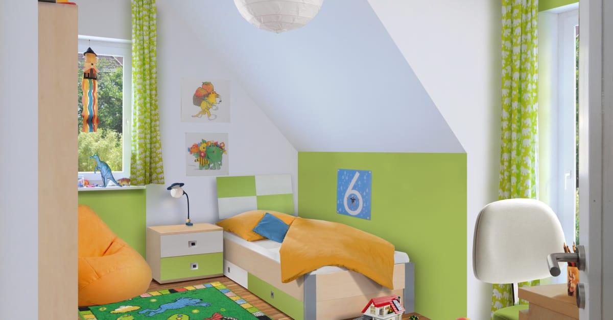 Kinderzimmer im massivhaus flair 113 town country for Kinderzimmer haus