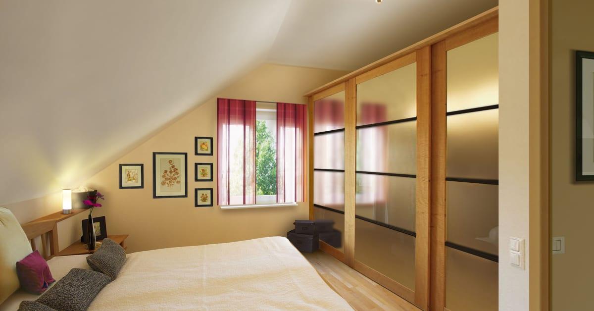 schlafzimmer im massivhaus flair 113 town country haus lizenzgeber gmbh. Black Bedroom Furniture Sets. Home Design Ideas