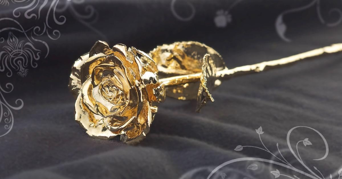 bleibende liebe goldene rose zum muttertag pearl gmbh. Black Bedroom Furniture Sets. Home Design Ideas