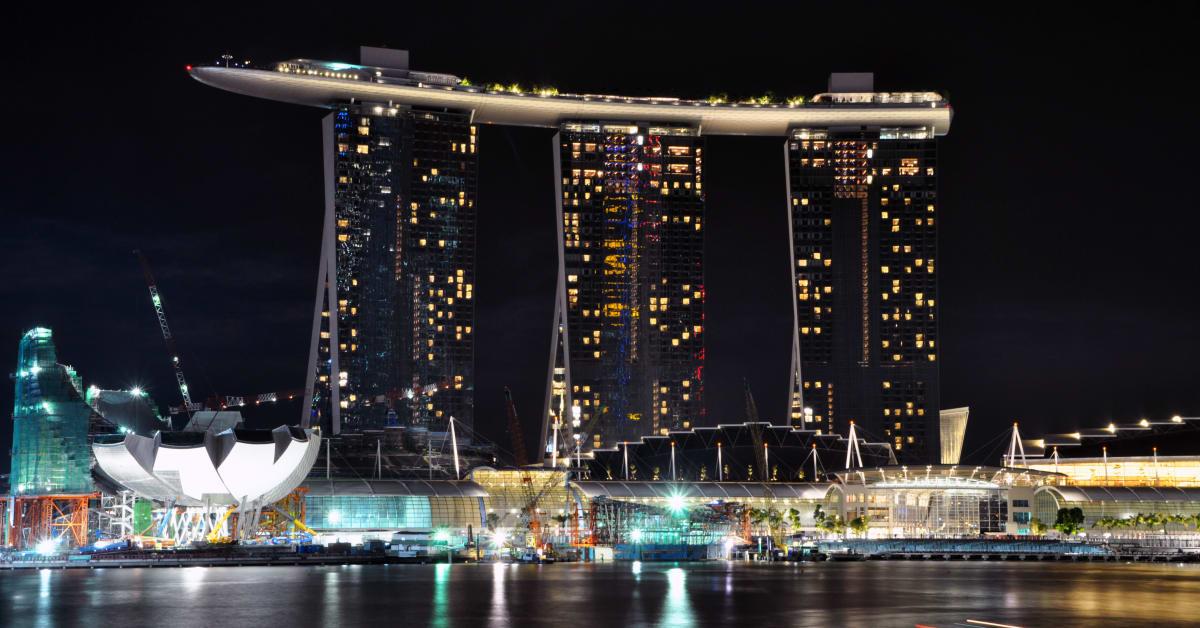 страны архитектура Сингапур ночь  № 1476066  скачать