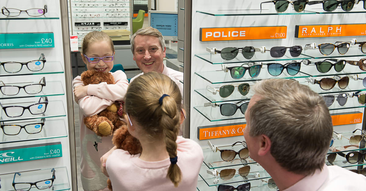 158351937cd Local eye cancer survivor unveils Vision Express Maidenhead store - Vision  Express