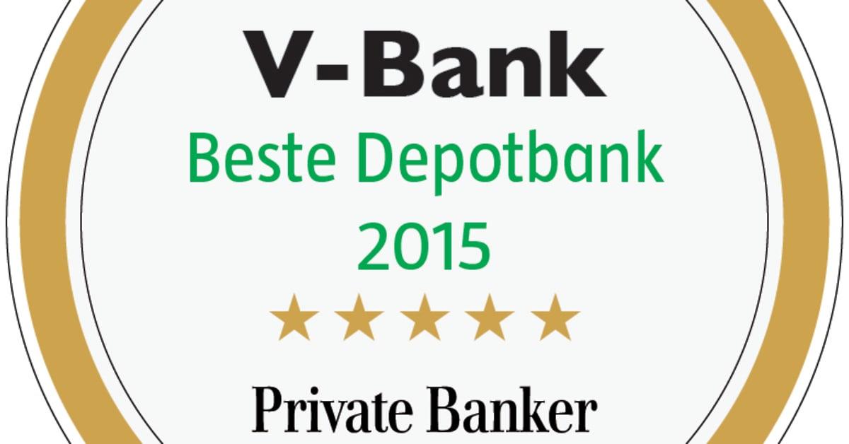 Private Banker Siegel Beste Depotbank 2015 - V-BANK AG