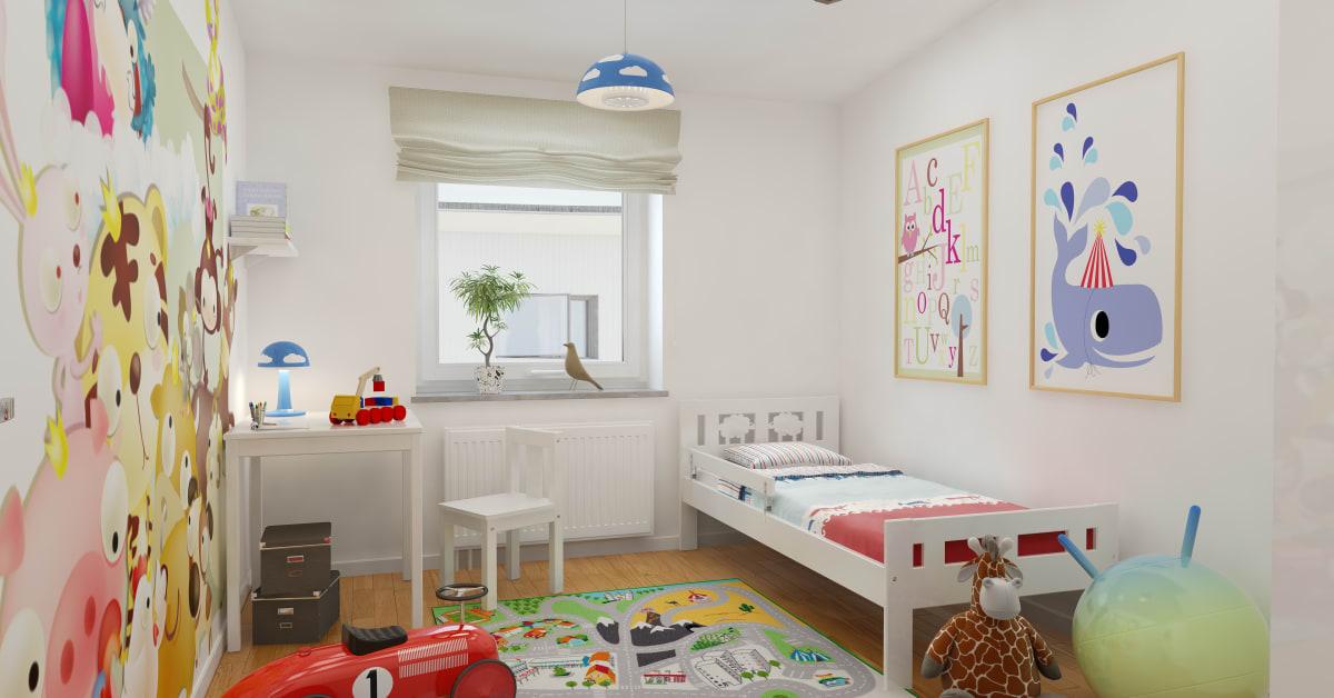 Kastmyntsgatan Högsbohöjd nybyggda hus, sovrum för barn Egnahemsbolaget