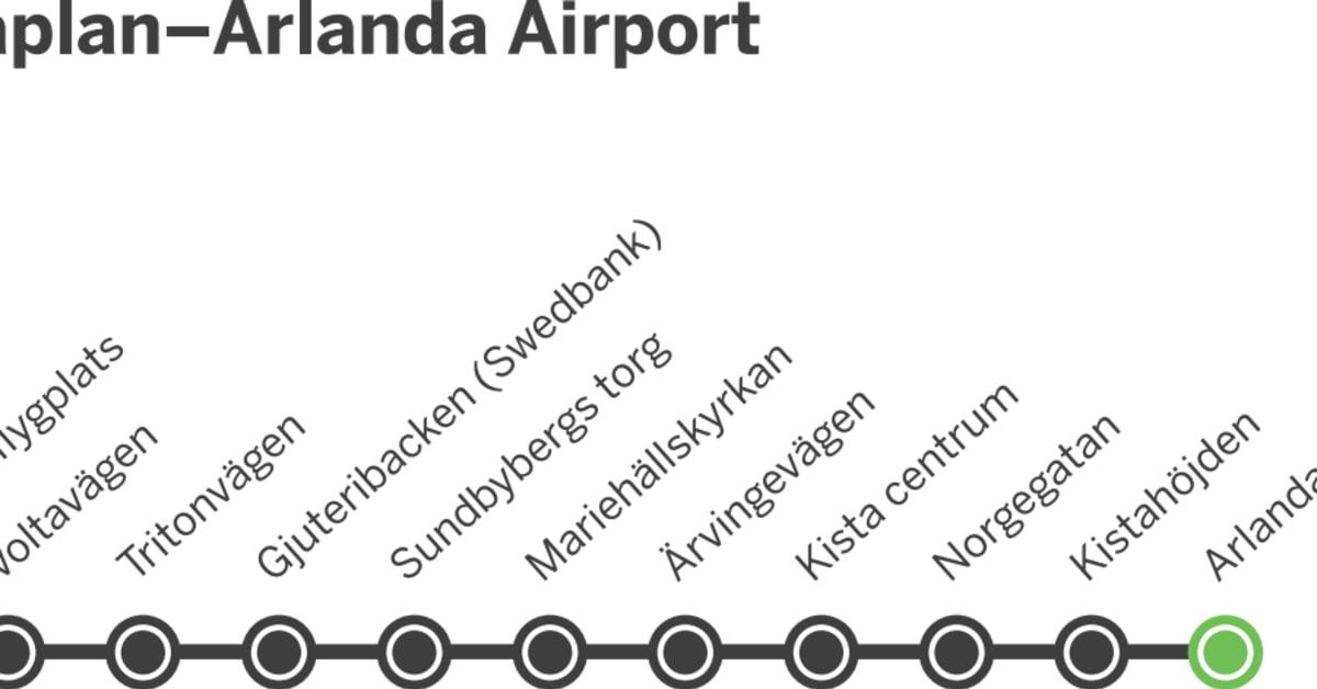 Karta Bromma Arlanda.Fran Brommaplan Och Kista Direkt Till Flygplatsen Utan Krangliga