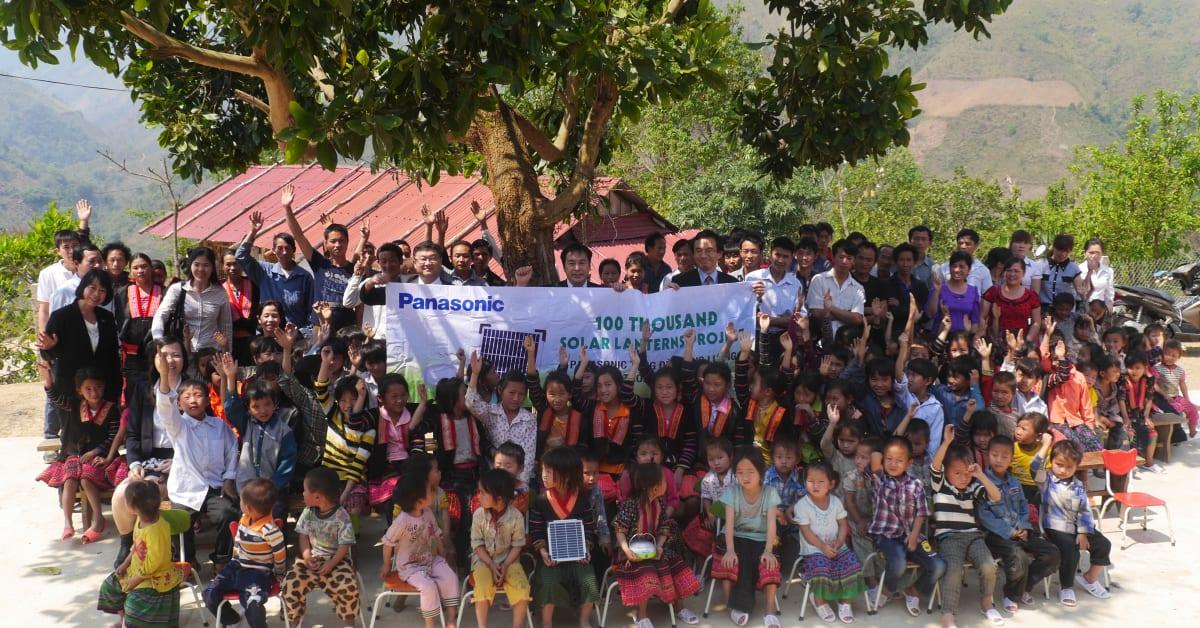 Panasonics 100 Thousand Solar Lanterns Project Dispelling Panasonic Wiring Devices Philippines Asia Pacific