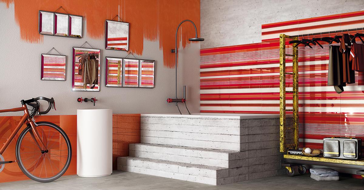 Färgglatt och mönstrat kakel i badrummet   kakelspecialisten i ...