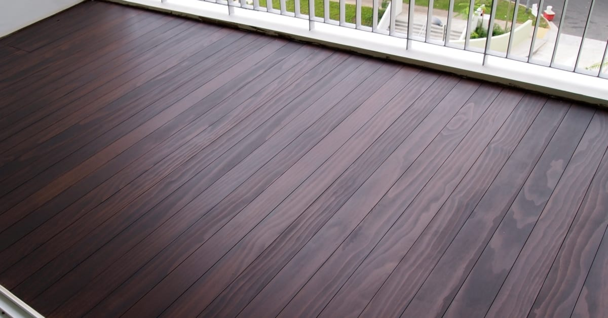 Completed decking project by evorich accoya decking for Balcony flooring
