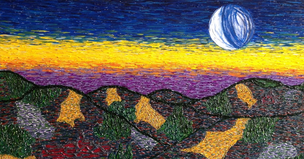 dawn an expressionist painting mirroring the start of a