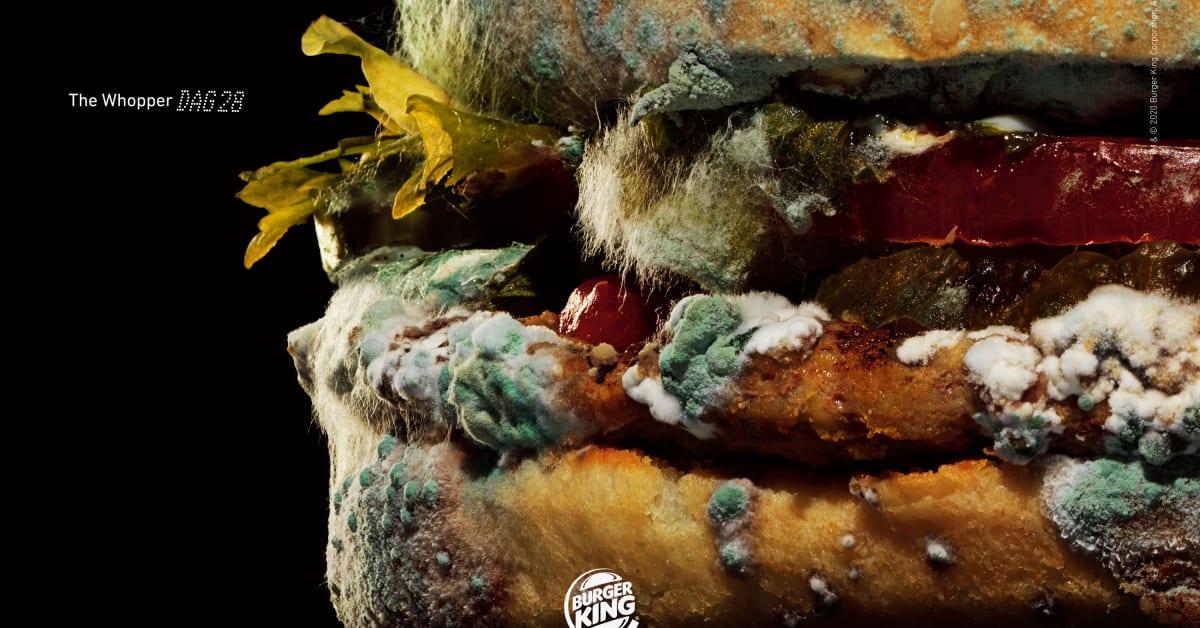 Burger King visar skönheten i mögel