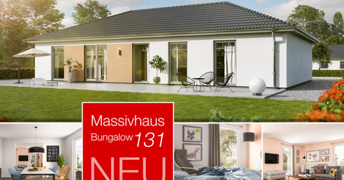 der neue bungalow 131 flexibel stufenlos familienfreundlich town country haus lizenzgeber. Black Bedroom Furniture Sets. Home Design Ideas