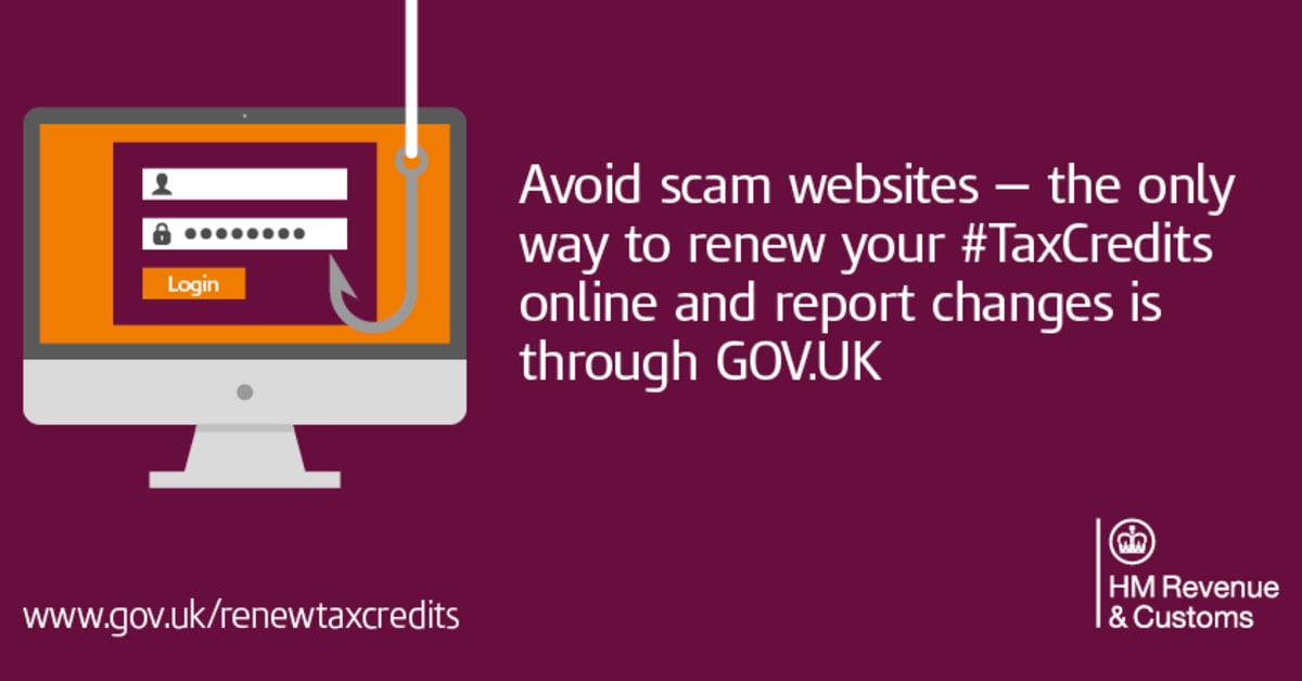 Scam emails double during tax credits renewal period hm - Hm revenue and customs office address ...