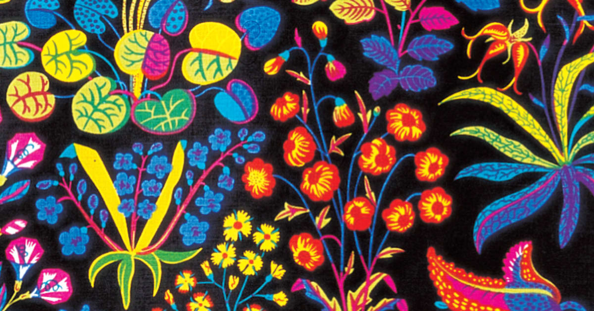 textile print under ekvatorn by josef frank svenskt tenn. Black Bedroom Furniture Sets. Home Design Ideas