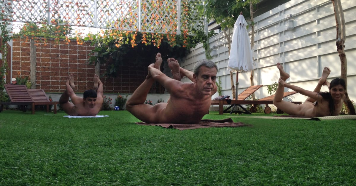 naturist association holds first yoga class naturist