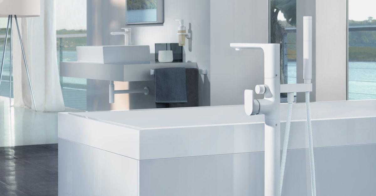 villeroy boch badkarsblandare cult i vitt villeroy boch gustavsberg. Black Bedroom Furniture Sets. Home Design Ideas