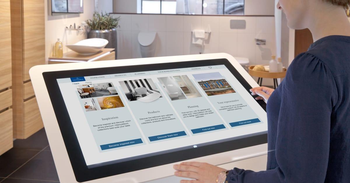 The bathroom at your fingertips digital bathroom for Bathroom planner villeroy