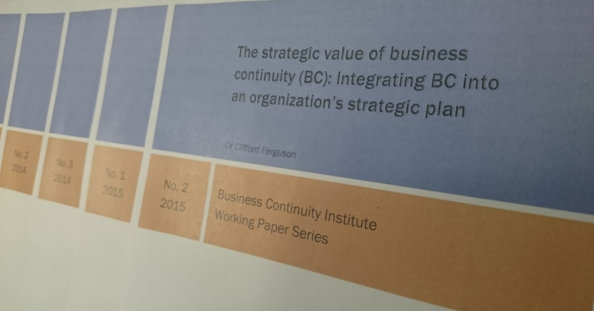 The strategic value of business continuity the bci xflitez Choice Image
