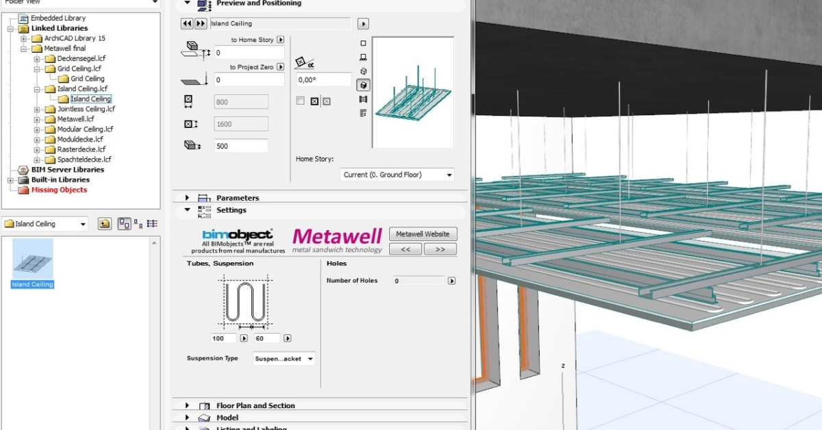 metawell produkte als bim objekte archicad 3d ansicht bimobject. Black Bedroom Furniture Sets. Home Design Ideas