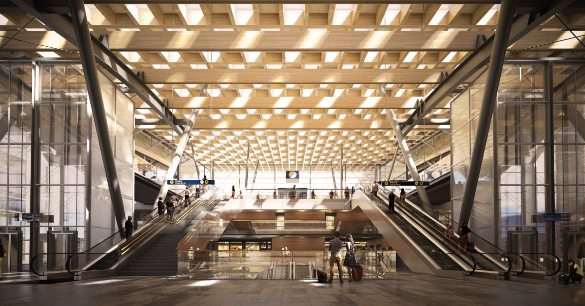 Oslo airport 2017 train station oslo lufthavn for Architecture t scale