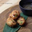 Tempura Crab / Crab Croquettes och ponzudressing