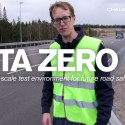 Ola Benderius shows his team's self-driving truck