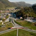 Transport av turbinblader til Roan vindpark sommeren 2018