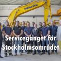 Komatsus serviceanläggning i Rosersberg
