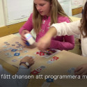 Femteklassarna på Sollentuna Musikklasser provar KUBO.