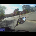 Footage of the attemped motorbike theft