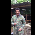 Ahmed Alsyed at a paintball camp