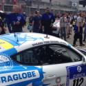 Puraglobe Porsche takes position.