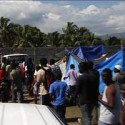 Plan arriving to distribute tents camp Jacmel