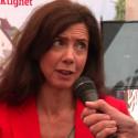 Hanna Kauppi, KFO, intervjuas efter seminarie vid Full delaktighet i Almedalen.