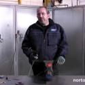 Förbereda stål för målning och lackering med Norton minivinkelslip