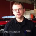 Vakthavande brandingenjör Johan Hedin kommenterar brand i Ödåkra