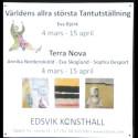 Tantutställningens akvareller på Edsvik konsthall