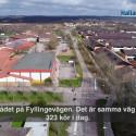 Så kör bussen i Fyllinge när bussgatan stängs av