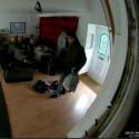 CCTV footage of burglary