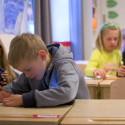 Polyglutt skola i klassrummet