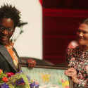 The ALMA ceremony 2018: H.R.H. Crown Princess Victoria presents the award to Jacqueline Woodson