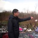 Video från det provisoriska flyktinglägret i Grande-Synthe, Frankrike.