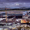 Byggingen av ny flyterminal Mai 2014 -  August 2016
