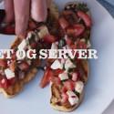Bruschetta med tomater, mozzarella og basilikum