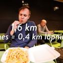 1 pommes = 0,4 km löpning