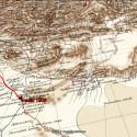 Sven Hedins rutt genom östra Persiens öknar 1906
