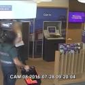CCTV of the raid in Green Lanes, N13