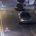 CCTV showing Danny with friends, and defendant & suspect on moped