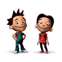 Max och Maya i dataspelet Equalize