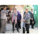 Besök i gamla staden i Hebron