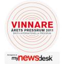 Saint-Gobain Abrasives vinner av Årets Presserom 2011